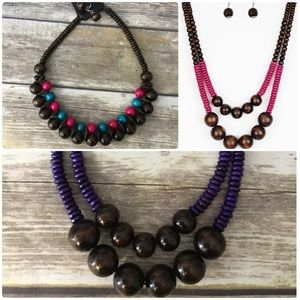 NWT Bundle 3 Wooden Necklaces!